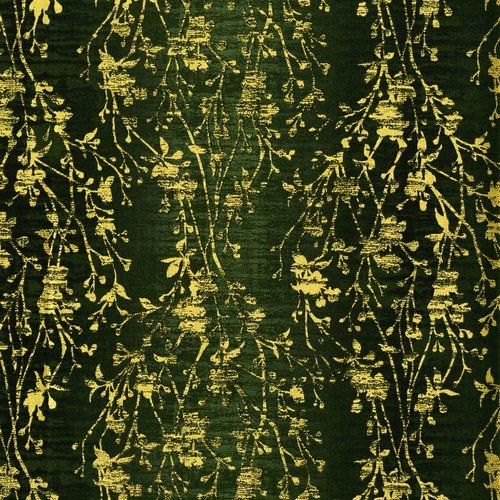 Shiny Objects Holiday Twinkle - Velvety Vines in Tannenbaum by Flaurie & Finch for RJR Fabrics