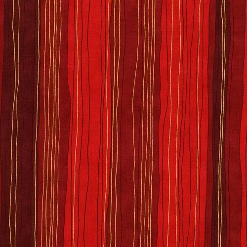 Shiny Objects Holiday Twinkle - Sterling Strip in Scarlet by Flaurie & Finch for RJR Fabrics