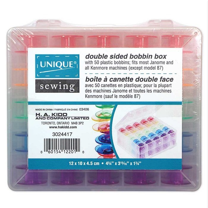 Double Sided 50 pc Bobbin Box (bobbins included) by Unique