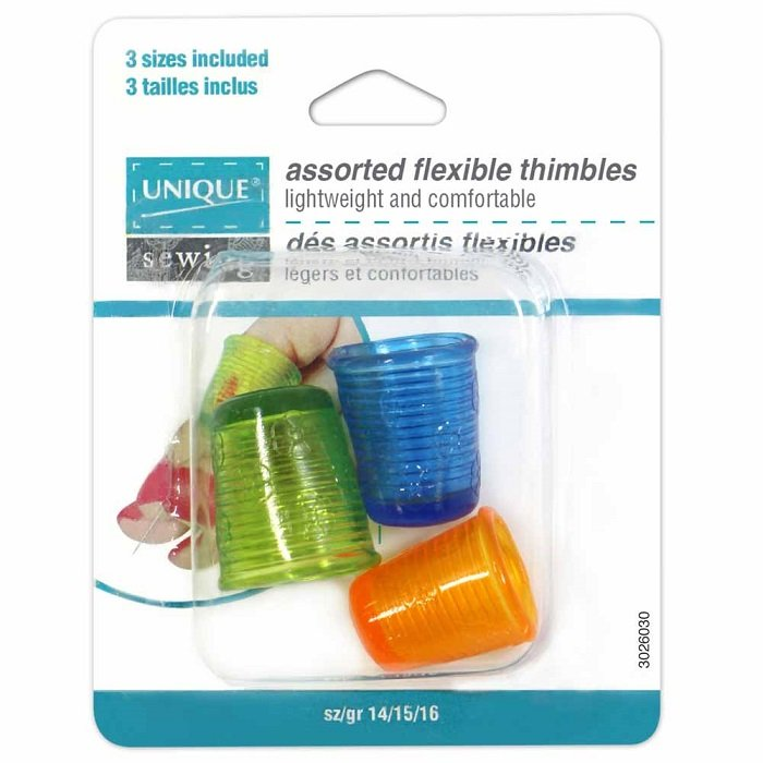 Flexible Thimble Sizes 14-16 (3 pieces) by Unique