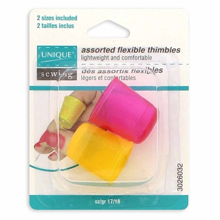 Flexible Thimble Sizes 17 & 18 (2 pieces) by Unique