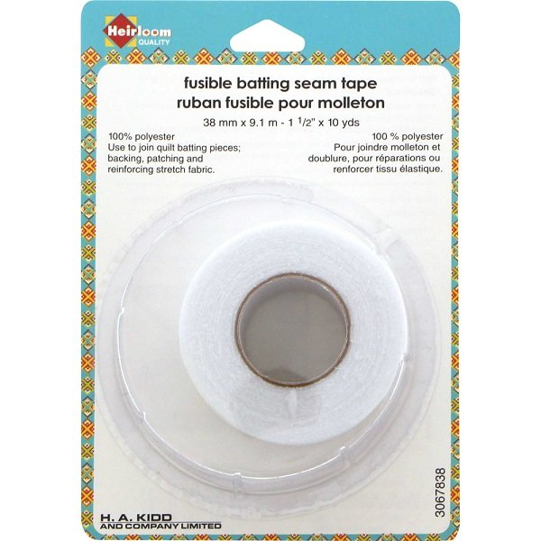 Fusible Batting Seam Tape (1.5 x 10 yards) by Heirloom