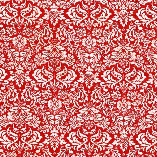 Shiny Objects Holiday Twinkle - Dazzling Damask in Radiant Cherry by Flaurie & Finch for RJR Fabrics