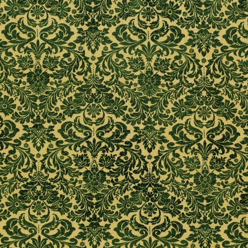 Shiny Objects Holiday Twinkle - Dazzling Damask in Tannenbaum by Flaurie & Finch for RJR Fabrics