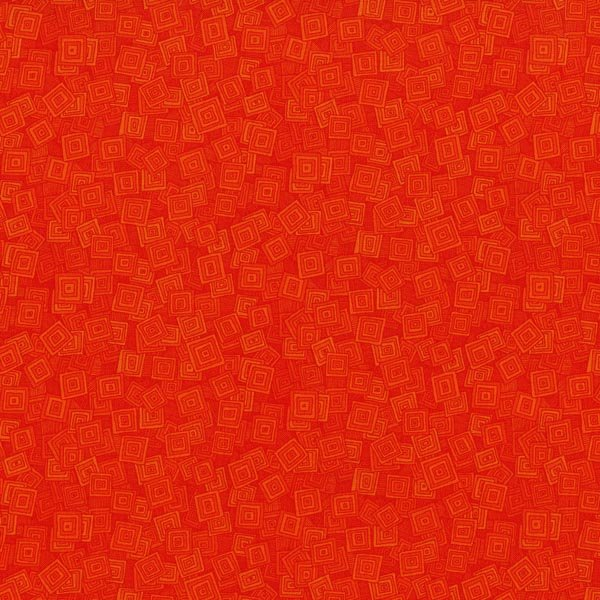 Hopscotch - Overlapping Squares in Marmalade by Jamie Fingal for RJR Fabrics