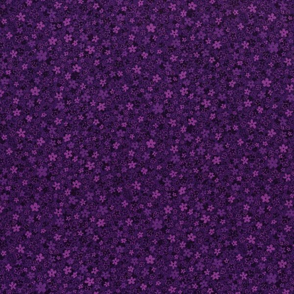 Hopscotch - First Flowers in Grape by Jamie Fingal for RJR Fabrics
