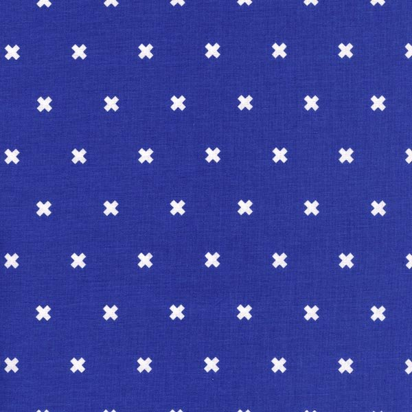 Cotton + Steel Basics - XOXO in Rashida Cobalt by Cotton + Steel