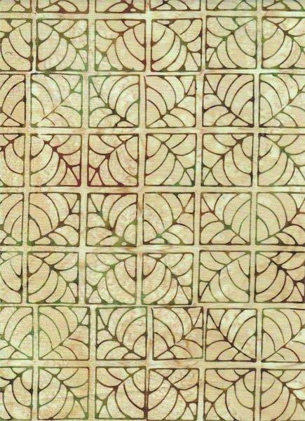 Portofino - Tile on Neutral by Batik Textiles