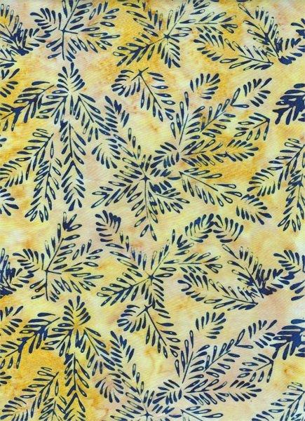 Portofino - Branches on Yellow by Batik Textiles