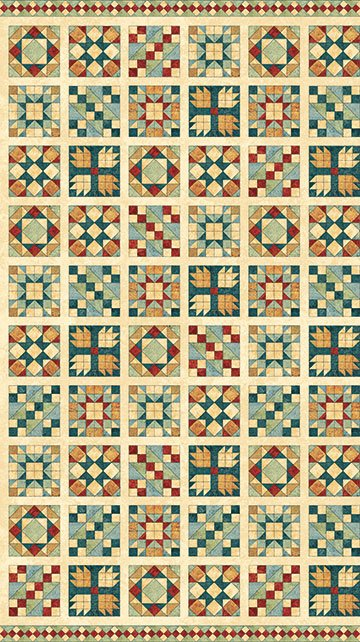 Stonehenge A Stitch in Time - Quilt Blocks in Oxidized Copper by Deborah Edwards for Northcott