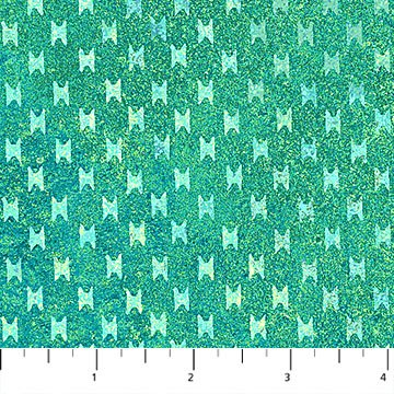 Stonehenge Sun Valley - Cross Hatch in Light Teal by Linda Ludovico for Northcott