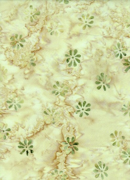Water's Edge - Floral in Yellow by Batik Textiles
