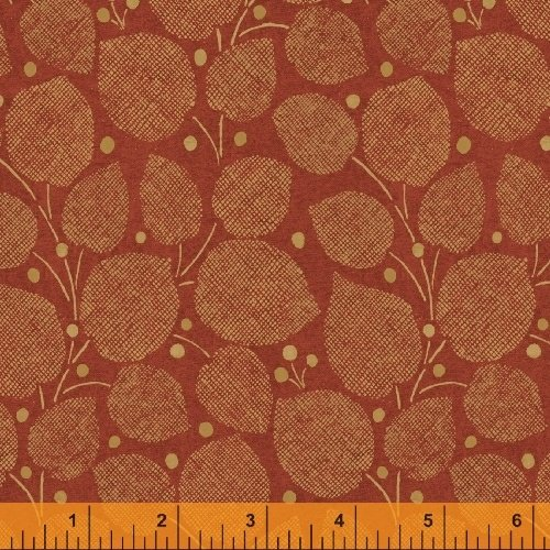 Textured Leaves - Large Leaves in Clay by Whistler Studios for Windham Fabrics