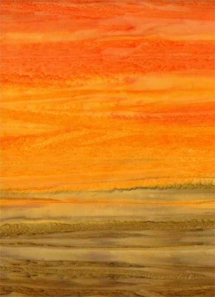 Down Under - Ombre in Orange by Batik Textiles