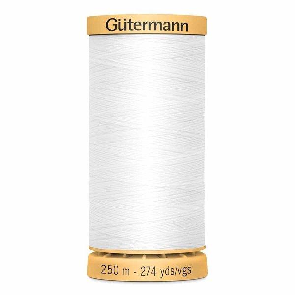 Gutermann Cotton 50wt Thread 250 m - White (1006)