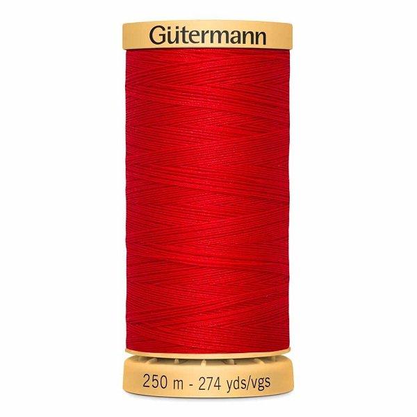 Gutermann Cotton 50wt Thread 250 m - Red (4880)