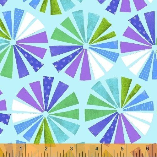 Color and Count - Prism in Light Blue by Jill McDonald for Windham Fabrics