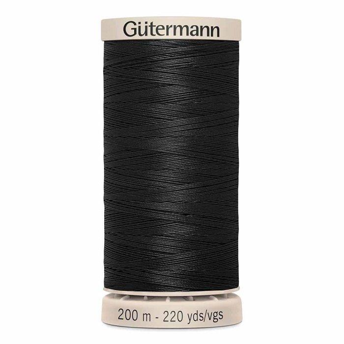 Gutermann Hand Quilting 50wt Thread 200 m - 5201 Black