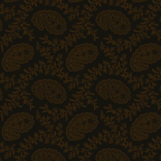 Cinnamon Toast III - Small Paisley in Brown by Studio e Fabrics