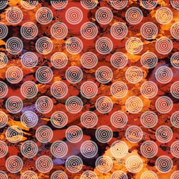 Autumn Hues - Circles on Texture in Orange by Alexa Kate Design for Studio e Fabrics