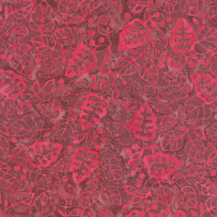Color Daze Batiks - Leaves in Bleeding Heart by Laundry Basket for Moda