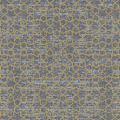 Gloria - Geometric Stars in Grey with Gold by Stof