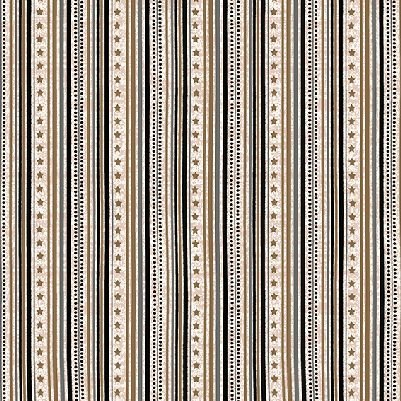 Gloria - Stripe in Black with Gold by Stof