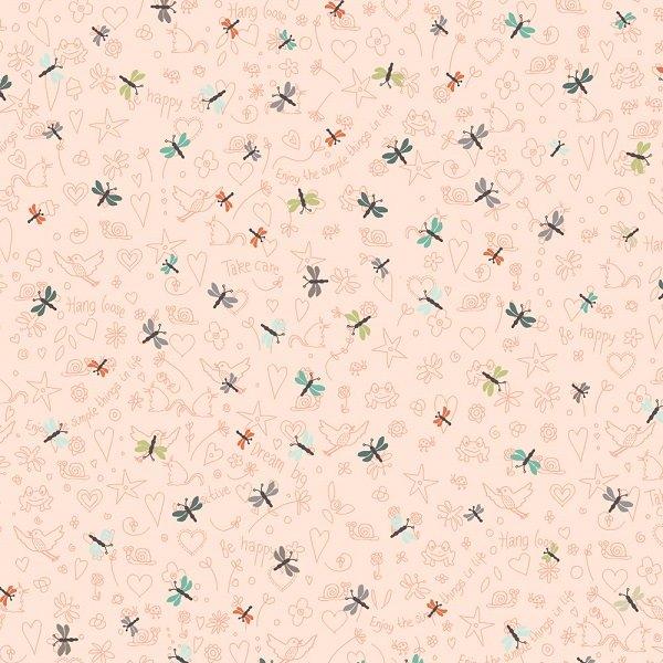 Mingo Memory - Dragonflies on Blush by Stof