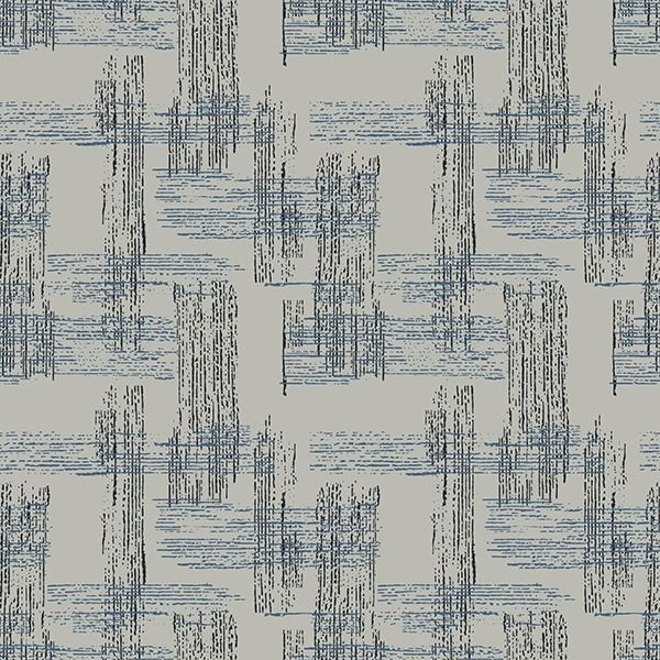 Bonita - Lined Stripe on Grey by Stof