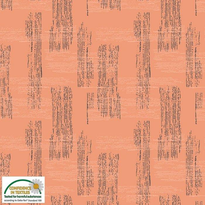 Bonita - Lined Stripe on Terracotta by Stof