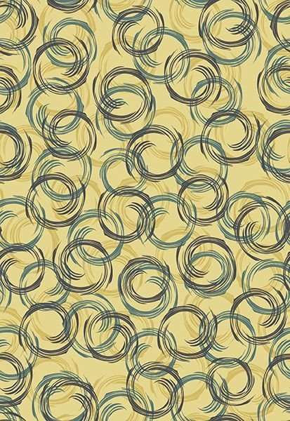 Bonita - Overlapping Circles on Custard by Stof