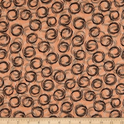 Bonita - Overlapping Circles on Terracotta by Stof