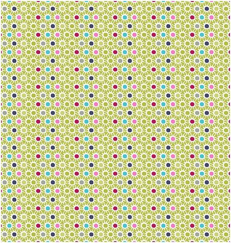OBO - Dots in Multi on Green by Stof