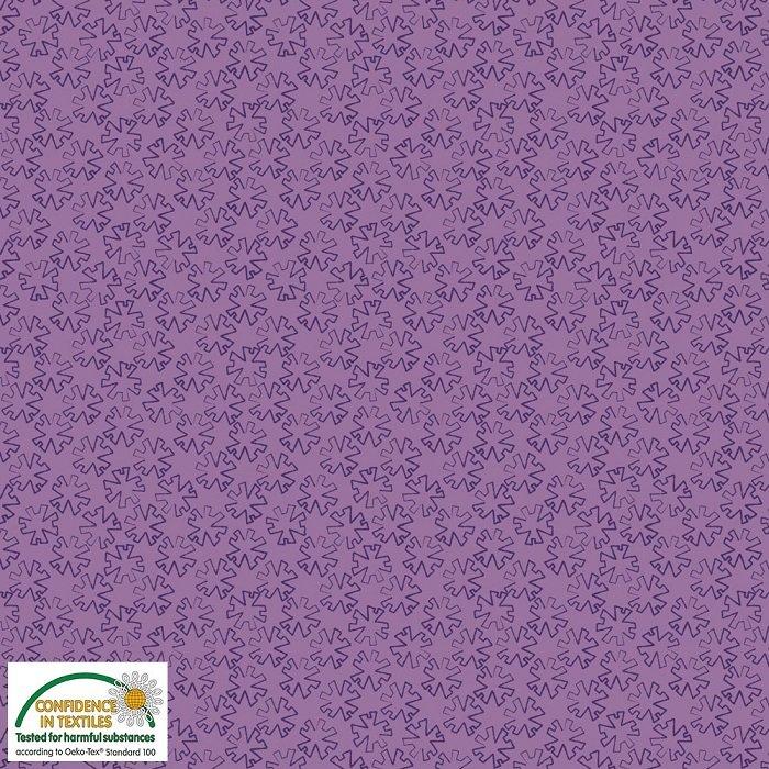 Gradiente - Mod Snowflake Star on Bright Purple by Stof