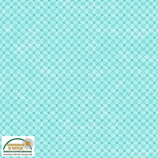 Gradiente - Flower Grid on Light Teal by Stof