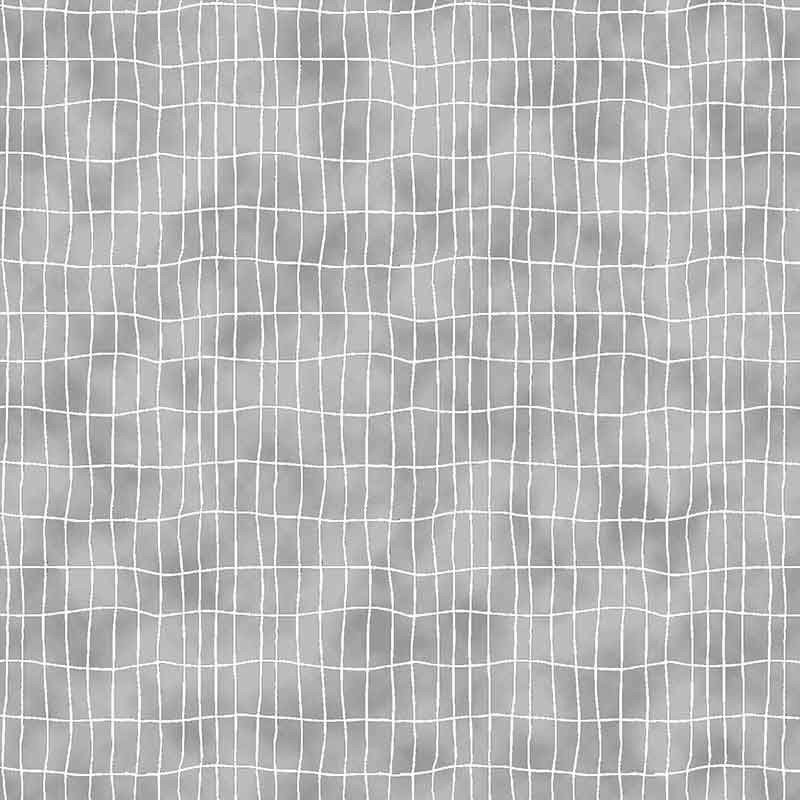 Quilters Combination - Wavy Grid in Light Grey by Stof