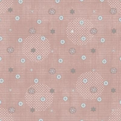 Icy Winter - Snowflake in Shell Pink with Silver by Stof