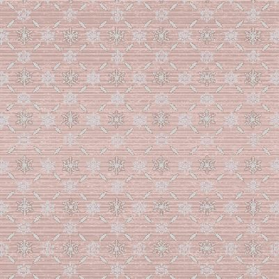Icy Winter - Snowflake Lattice in Shell Pink with Silver by Stof