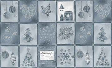 Brilliant Christmas - Squares in Silver by Stof