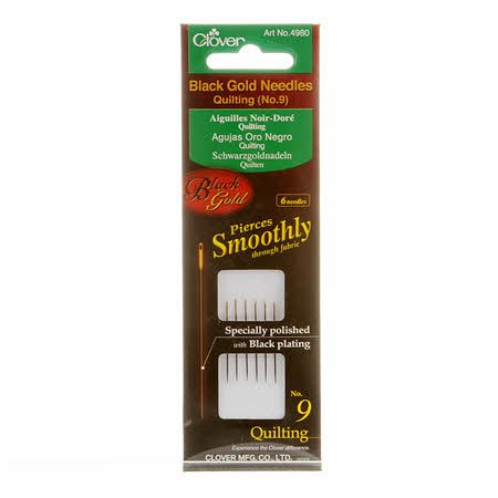Needles - Black Gold Quilting Needles Size 9 (6 Count) by Clover
