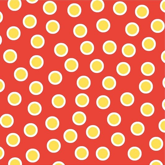 ABC Animals Flannel - Dots on Red by Jennifer Heynen for In the Beginning Fabrics