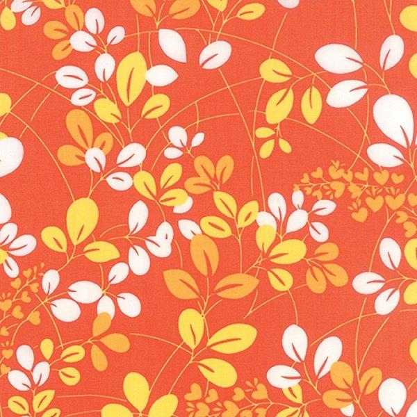 Simply Colorful I - Sprigs in Tonal Orange by V & Co. for Moda