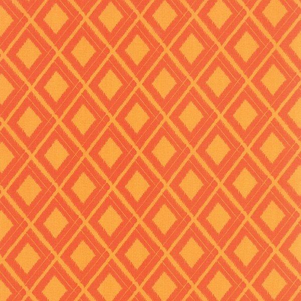 Simply Colorful I - Ikat in Tonal Orange by V & Co. for Moda