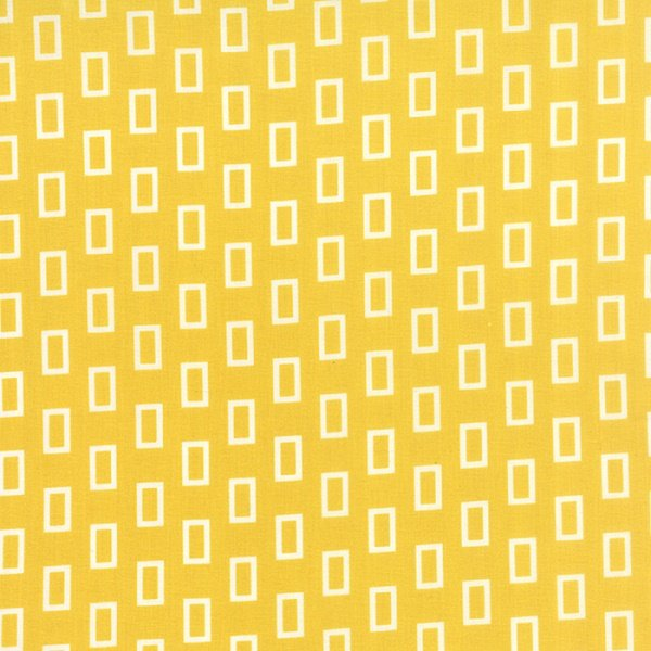 Simply Colorful I - Frames on Yellow by V & Co. for Moda