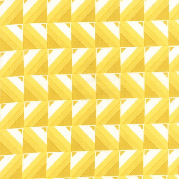 Simply Colorful I - Ombre Blocks in Yellow by V & Co. for Moda