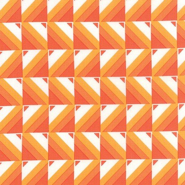 Simply Colorful I - Ombre Blocks in Orange by V & Co. for Moda