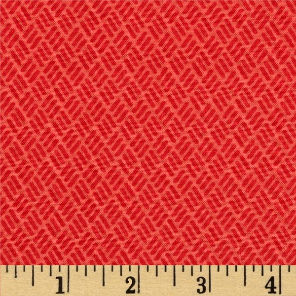 Simply Colorful I - Hash Marks in Red by V & Co. for Moda