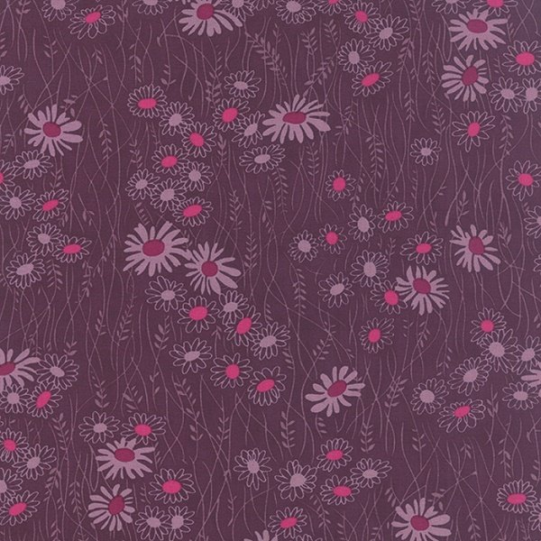 Simply Colorful II - Wildflower in Plum by V & Co for Moda