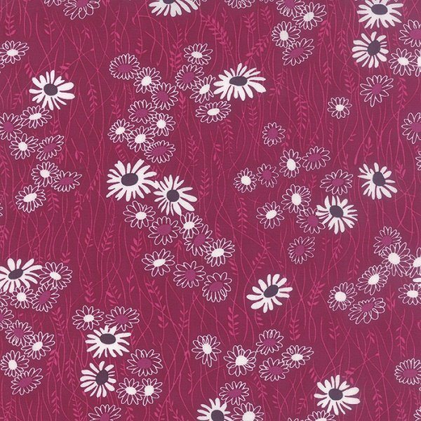 Simply Colorful II - Wildflower in Berry by V & Co for Moda