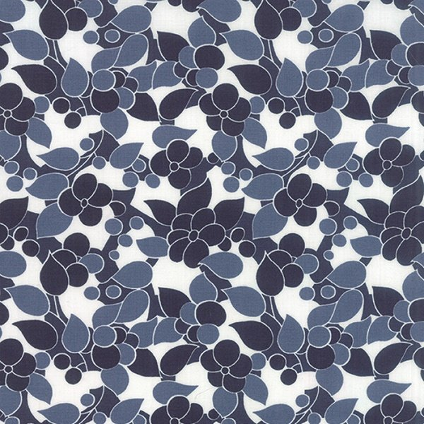 Simply Colorful II - Bloom in Navy by V & Co for Moda